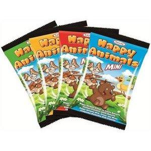 Happy Animals - sušienka v horkej, mliečnej a bielej poleve 22g