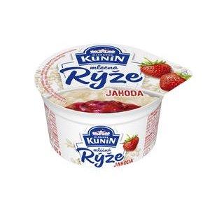Mliečna ryža Kunín Jahodová 175g