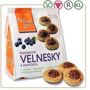 Velnesky - pohankove susienky s cucoriedkami a fruktozou polomacane 200g
