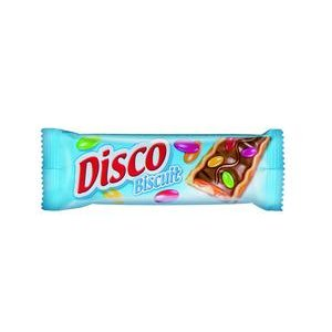 Disco Biscuit - sušienky s karamelovým krémom,v čokoláde s cukríkmi 27g
