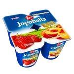 Jogobella jogurt - jahoda/broskyňa 4x120g