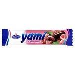 Yami želé tyčinka s malinovou príchuťou v horkej čokoláde 25g