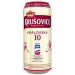 Pivo Krušovice svetlé 10% 0,5l/plech