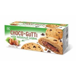Choco Gutti - cookies s lieskoorieškovým krémom a kúskami čokolády 160g