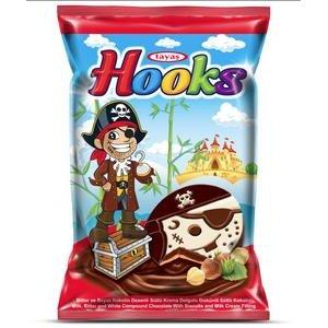 Hooks - sušienka v horkej, mliečnej a bielej poleve 22g