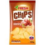 """Zemiakové chipsy s príchuťou slaniny """"FRESH"""" 150g"""