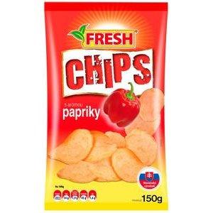 """Zemiakové chipsy s príchuťou papriky """"FRESH"""" 150g"""