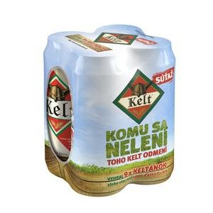 Pivo Kelt 10% 4x0,5l/plech