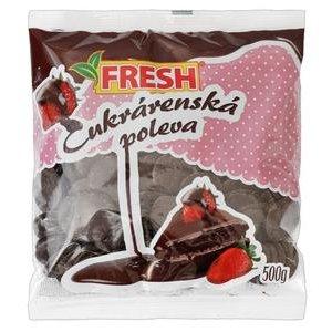 """Cukrárenská poleva tmavá """"Fresh"""" 500g"""