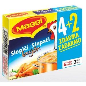 Bujón Maggi Slepačí 3l/60g 4+2 kocky zadarmo