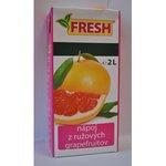 Nesýtený nápoj FRESH Rúžový grapefruit v TP 2l