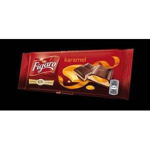 Figaro horká čokoláda s mliečnou a karamelovou náplňou 90 g