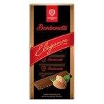 Čokoláda Bonbonetti Elegance horká s mandľami 100g