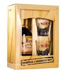 Rum Caribbean - dárčekové balenie 37,5% 0,5l