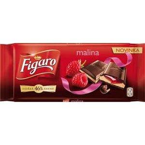 Figaro Horká čokoláda s mlieč.náplňou s malino.príchuťou a malinovou náplňou 90 g