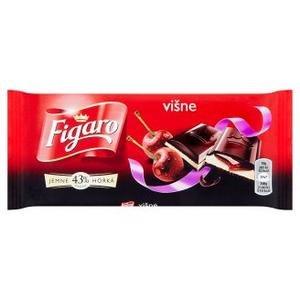 Figaro Horká čokoláda s mlieč.náplňou s višňovou príchuť.a višňovou náplňou 90 g