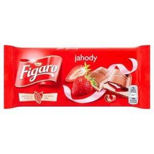 bddc49a03efc Figaro Mliečna čokoláda s mlieč.náplňou s jahod.príchuťou a jahodovou  náplň. 90g
