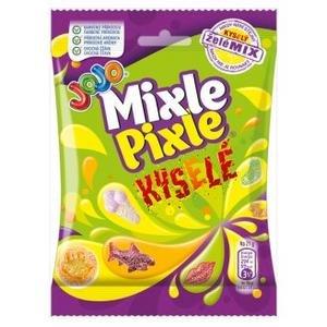 JoJo Mixle Pixle Kyslé - mix želé cukríkov s ovocnými príchuťami 80g