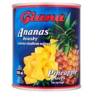 Ananasovy kompot/kusky Giana 850ml