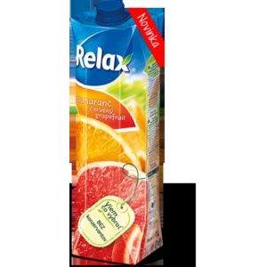 Relax nektár Pomaranč-červený grapefruit 1l
