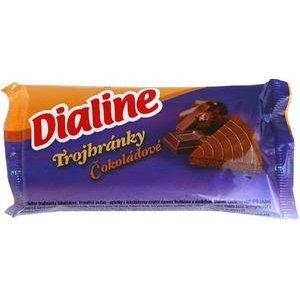 Trojhranky Dialine cokoladove 50g / Dia pecivo