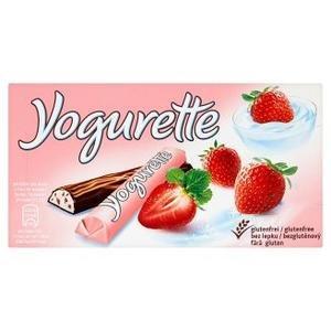 Yogurette - mliečna čokoláda s náplňou s jahodovo-jogurtovou príchuťou 8x12,5g