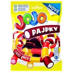 JoJo Pajpky Trio Mix-želé cukríky (lékorica s príchuť.čier.ríbezlí, citrónu a jahody) 80g