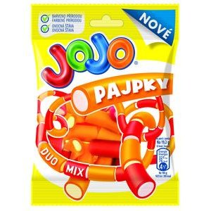 JoJo Pajpky Duo Mix-želé cukríky (kúsky lékorice s náplň.pomaranča a čerešne) 80g