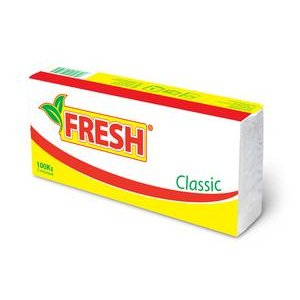 Papierové vreckovky Fresh Classic 100ks 3vrstvové