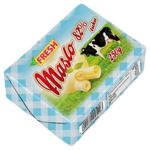 Maslo čerstvé Fresh 250g - tradičné maslo s obsahom mliečneho tuku 82%