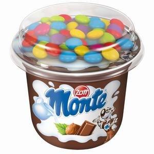 Monte Zott Cup-Mliečny dezert čoko-orieškový s kakaovým dražé 70g