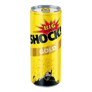 Big Shock Gold Energetický nápoj perlivý 250 ml