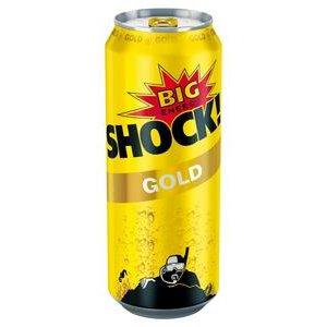 Big Shock Gold Energetický nápoj perlivý 500 ml