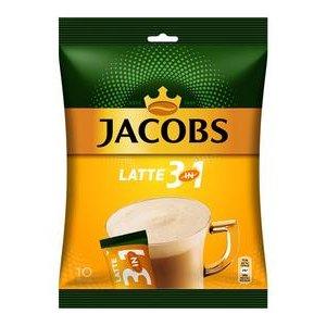 Jacobs Cafe Latte - instantná kávová zmes 10 x 12,5=125g / sáčok