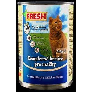"""Krmivo pre mačky s rybacím mäsom """"FRESH"""" 415g/konzerva"""