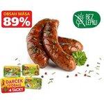 Klobása s divokým cesnakom Krásno - 89% obsah mäsa