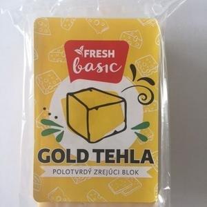 Fresh Gold tehla 45% - polotvrdý zrejúci blok vyrobený z mlieka a rastlin.tuku 200g
