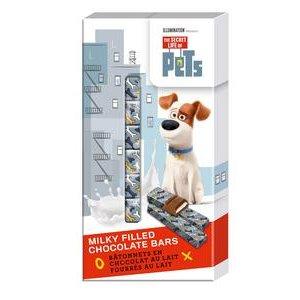 Secret Life of Pets - tyčinky z mliečnej čokolády s mliečnou náplňou 8x12,5g=100g