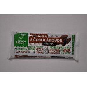 Oblátka Fresh Haelthy Living s čokoládovou náplňou obvodovomáčaná 36g