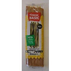 Špagety-bezvaječné cestoviny s 30% celozrnnej pšeničnej múky Fresh Basic 400g
