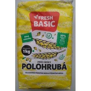 Polohrubá múčna zmes (celozrn.múka 30% + pčeničná múka 70%) Fresh Basic 1kg