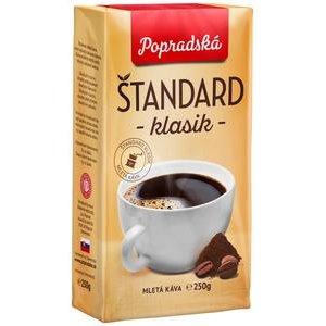 Káva Popradská Štandard Klasik vákuová 250g