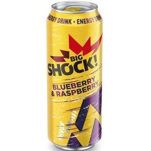 Big Shock Blueberry Raspberry - energetický nápoj perlivý 500 ml