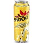 Big Shock Lemon Grapefruit - energetický nápoj perlivý 500 ml
