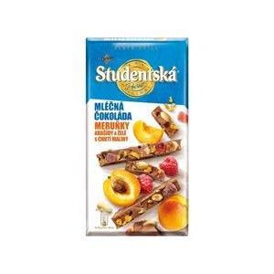Študentská pečať Zlatá edícia - Mliečna s kúskami Marhúľ a s Malinovýn želé 170g