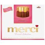 Merci Ružové Creme Fruit (limitovaná edícia)- Zmes čokolád s ovoc. náplňou 250 g
