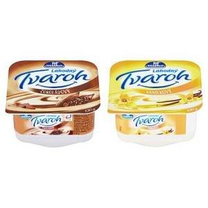 Ochutený tvaroh s vlákninou Milko, nízkotučný (mix čokoláda a vanilka) 130g