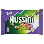Milka Nussini - Oblátky s orieško-kakao.náplňou s kúskami orechov v čok.5 x 31,5g