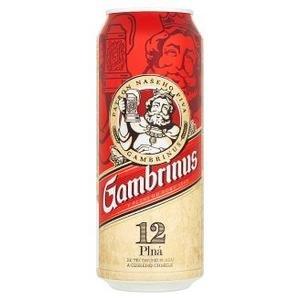 Gambrinus 12° - pivo ležiak svetlý 0,5 l / plechovka