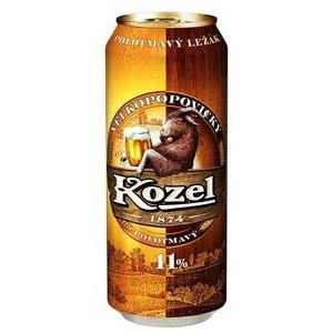 Pivo Velkopopovický kozel Polotmavý 11% 0,5l/plech